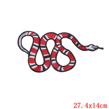 ZOTOONE 1Pcs Fashion Red Snake Patch Cheap Embroidered Patch For Clothing Skull Tiger Appliqued Stickers For Badges DIY Garment(China)