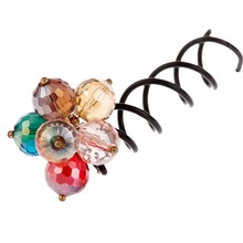 Furling Girl 1PC/Lot New Arrival Dazzling Crystal Beads Spiral Hair Clips Hair Stick Beauty Hair Pins For Women Party Twist