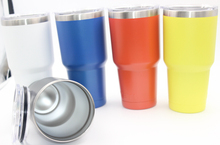 50pcs 30 oz  tumbler cups News Rambler 30oz cups Stainless Steel Travel Vehicle Beer Mug Double Wall Bilayer Vacuum Insulated