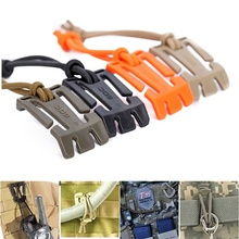 Hot 2 Pcs Tactical Dominator Elastic Cord Hang Buckle Clip Secures Webbing popularly outdoor sporting goods