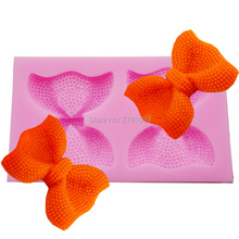 2 Style Cute Bows Silicone Mold silicone mold chocolate fondant cake decoration Soap baking Cake Tool M222,8.8*5.7*1.5cm