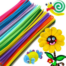100pcs/bag Wool Top Children's DIY Educational Toys Materials Shilly-Stick Plush Stick Handmade Art Christmas Toys Hot Sale