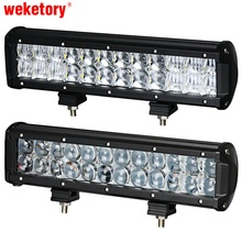 weketory 12 inch 120W 4D 5D LED Work Light Bar for Tractor Boat OffRoad 4WD 4x4 Truck SUV ATV Spot Flood Combo Beam 12V 24v