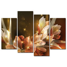 Sunset flowers Modular pictures Modern Home Decoration Living Room or Bedroom Canvas Print Wall picture w/0679 modular pictures