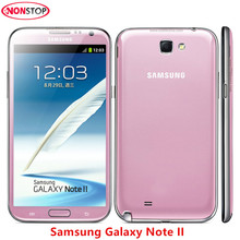 "Unlocked Original Samsung Galaxy Note II 2 N7100 Android Quad Core phone 5.5"" 16GB ROM 2GB RAM 3G NFC Refurbished Smartphone(China)"