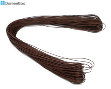 Doreen Box Lovely 80M Wholesale Brown Waxed Cotton Necklace Cord 1mm (B06712)