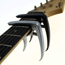 New Acoustic guitar and electric guitar capo silver and black models optional made of Aluminum