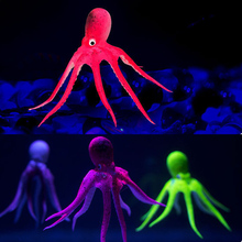 Hot Sale Artificial Octopus Aquarium Ornament Suction Cup Fish Tank Decoration Emulational Water Floating Color Randomly(China)