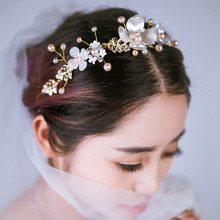 Womens Lady Elegant Luxury Pearls Charm Headbands Women Wedding Party Bridal Flower Headband Hairbands Headwear Hair Accessories