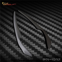 Fiber glass Headlight  Eyelids Eyebrows cover trim 2pcs Fit For Mitsubishi Lancer EVO X 10 2008~2014