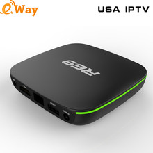 Free Shipping R69 Boxes HD USA IPTV BOX Support US Live TV Channels With English Channels Internet TV Box Android US IPTV Box(China)