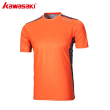 KAWASAKI Brand Tennis T-Shirt O Neck Short Sleeve Gym Shirt for Men Quick Dry Anti-sweat Fitness Badminton Sportswear ST-171025