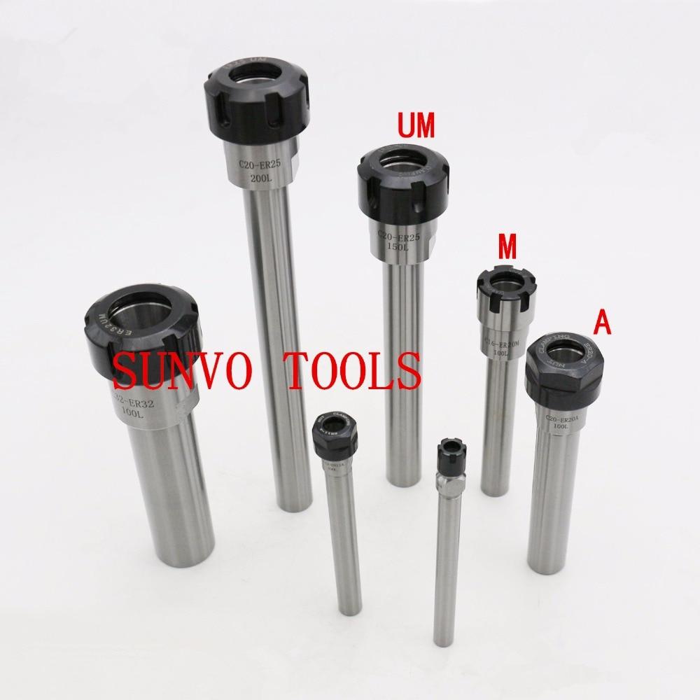 C32-ER25UM-100L Tools holder C32 ER25UM 150L Chuck Holder  Extension Rod ER20 ER25UM ER32UM ER40UM CNC Collet ER Nut ER A/M Nut<br>