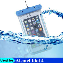 Luminous Waterproof Smart Phone Bags with Strap for Alcatel Idol 4 4S Phone Swimming Underwater Photo Dry Pouch Cases Cover