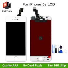 Hot-Truth 4 Inch Lcd For iPhone 5s Touch Screen Display Digitizer Assembly A+++Quality with Free Screw Tools and Fast Shipping