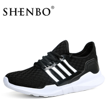 Shenbo Brand New Design Breathable Black Men Sports Shoes,Light Wear Comfortable Men Casual Shoes, Lace Up Sneakers For Men(China)