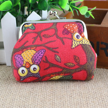 Wallet Women Wallets Ladies Coin Purse Cute Canvas Owl Wallet For Purse Cartoon Money Bag 3 Colors 2017 Hot