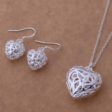 Free Shipping Promotion Silver plated Jewelry Sets Earring 316 + Necklace 335 /bqcakhja epaangha AS236(China)