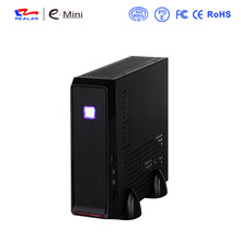 Realan Emini 3019 Silver Desktop Computer PC Cases With Power Supply Black Desktop Computers(China)