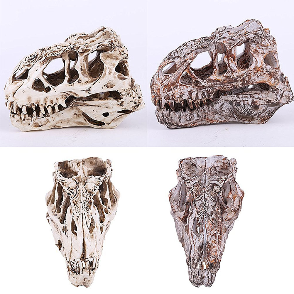 Retro Dinosaur Resin Skull Head Model Replica Skeleton Figurine Collection Home Bar Party Decor Best Hallowmas Gift(China)