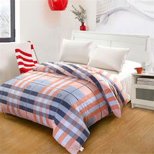 Fashion light Pink blue stripes plaids quilt cover bedding duvet cover 100% cotton Queen Full twin Double King size Home textile(China)