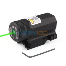Mini Compact Green Laser Sight New For 20mm Rail Pistol Rifle Glock 17 20 23 21 Hunting(China)