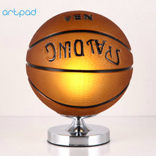 Compare prices on football lampshade online shoppingbuy low price artpad creative design led football table lmap glass lampshade e27 base 3d basketball lamp for kid boy bedroom desk lighting aloadofball Images
