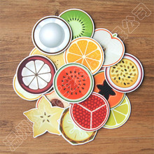 16pcs Fruit Magnetic Stickers Various Fruit Shape Refrigerator Stickers Refrigerator Magnets Kids Gifts Home Decoration 5ZDZ208(China)