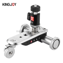 Kingjoy brand PPL-06S electric 3 wheels Video Car camera tripod parts professional manufacturers for DSLR mirrorless Camera
