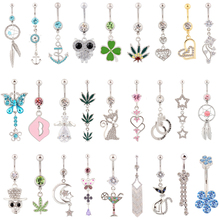 10 pieces mixed different belly button rings body jewelry navel ring sexy waist piercing Postal service free shipping(China)