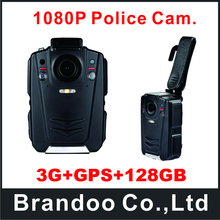 3G+GPS+128GB Newest Full HD 1080P Ambarella Chipset Police Body Worn Video Camera
