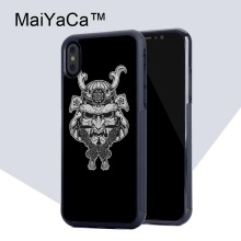 MaiYaCa Japan Samurai Mask Phone Case for iPhone X Luxury TPU Soft Rubber Mobile Phone Back Shell for iPhone X Case