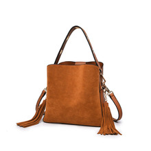 New Fashion Shoulder Bag Women Handbags Tassel Bucket Bags Classic suede Messenger Bag Fashion Ladies HandBag Dropship(China)