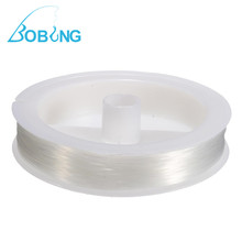 Bobing Hot Sale 100M Fishing Line Nylon Fishing Tackle Accessories Tool 0.45mm Beading Wire Braided Monofilament Clear Rope(China)