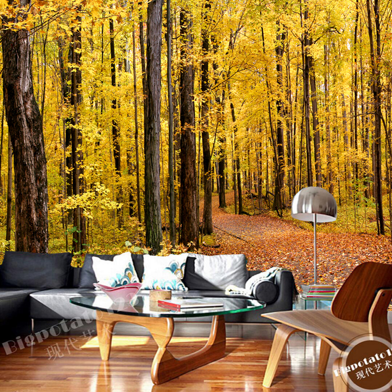 Large natural landscape murals, forest trails, 3D photo wallpaper for the living room sofa dining room wall wallpaper PVC<br>