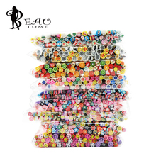 2016 New Wholesale 50 Pcs/Set 5mm 3D Nail Art Fimo Canes Stick Rods Polymer Clay Stickers Decorations Beauty Manicure Tools