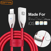 Torras Fast Data Charging USB Cable For iPhone 8 7 6 6s Plus 5 5s SE iPad Air Mini(China)