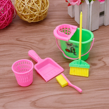 6Pcs/Set Home Furniture Furnishing Cleaning Cleaner Kit For Doll House(China)