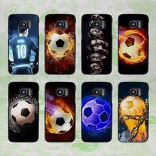 Fire Football Soccer design hard black phone Case Cover for samsung galaxy s8 s8 plus s7 s6 edge j3 j5 2016 j7 2016