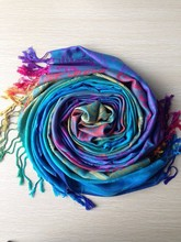 New Fashion Colourful Print Pashmina Women Long Scarf Wrap Shawl Scarves(China)