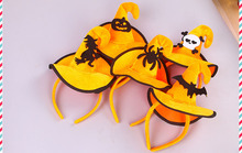 Halloween Party Pumpkin Sorceress Skull Hat Suitable For Costume Cap Plush Shape Festival Party Decoration Supplies Kids Favor(China)
