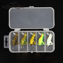 5 Pcs/Lot 3g 4cm Luminous Fishing Lure Artificial Locust Grasshopper Lures Insect Shape Hard Bait Set + Pesca Fishing Tackle Box