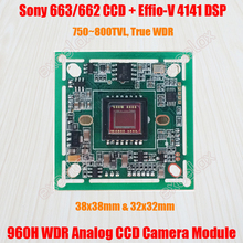 750TVL~800TVL Sony ICX663 662 WDR CCD Effio-V 4141 DSP CCTV Camera Module Board PCB OSD HLC Motion Detection Wide Dynamic Range(China)