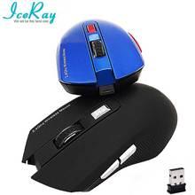 IceRay 2.4GHZ USB 6D Rechargeable Computer Gaming Wireless Mouse Mute Slient Click For PC LaPtop