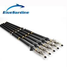 BlueSardine New Telescopic Fishing Rod Carbon Spinning Rod Surf Casting Rod Fishing Tackle 3.6M 4.5M 5.4M 6.3M 7.2M