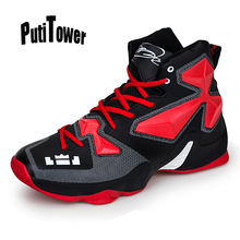 Men Basketball Shoes Sneakers Sports Shoes Homme Basket High-top Color Blocking Professional Trainers Shoes Brand New 080(China)