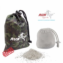 RUNTOP 2.4OZ Refillable Magnesium Carbonate GYM Chalk Ball for Weight lifting Crossfit WODS Rock Climbing PowerLifting No Slip(China)