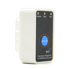 Super White ELM327 Power Switch WIFI V1.5 with 25K80 Works Multi-Brand Cars Supports iOS/Android/PC ELM 327 Wi-Fi OBD Tool(China)