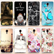 New Hot Fashion Soft Silicon TPU Back Case for 5.0 inch General Mobile GM 5 GM5 Flower Butterfly Cover Top Quality