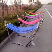 The latest with iron frame 250x80cm super large parachute cloth single hammock chair folding pendulum Hamacas garden outdoor(China)